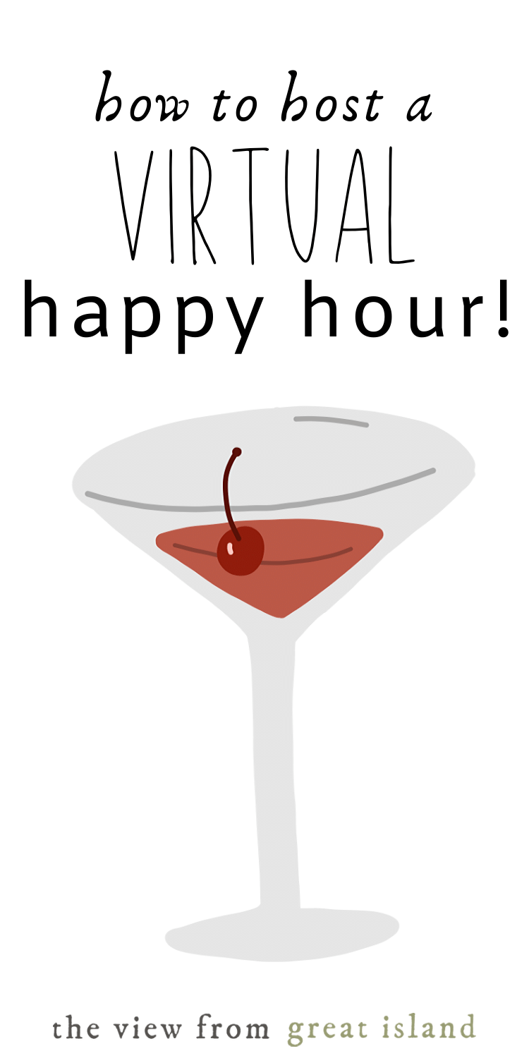 How to Host a Virtual Happy Hour pin