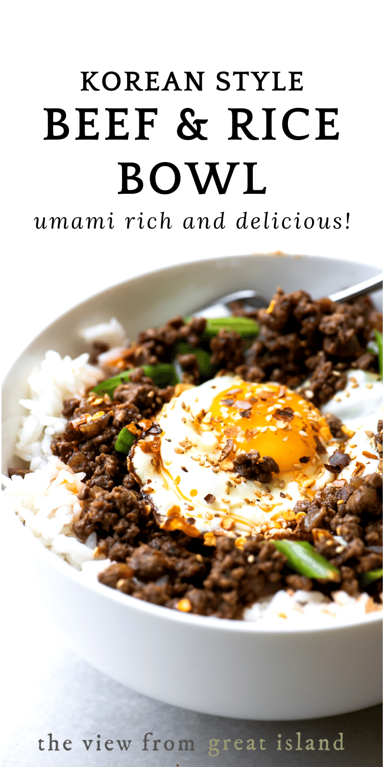 Korean Beef and Rice Bowl pin
