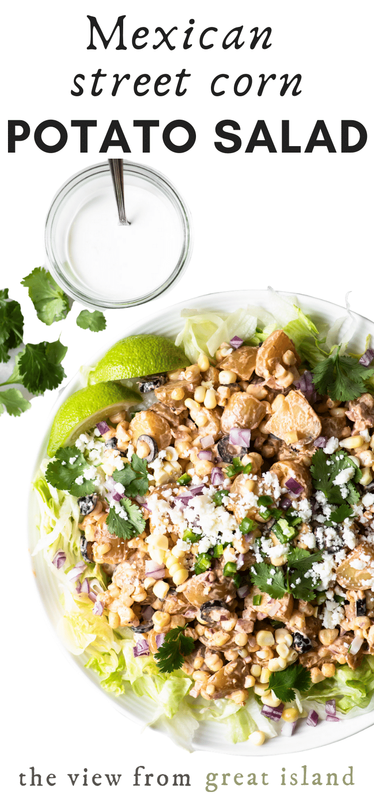 Mexican Street Corn Potato Salad pin