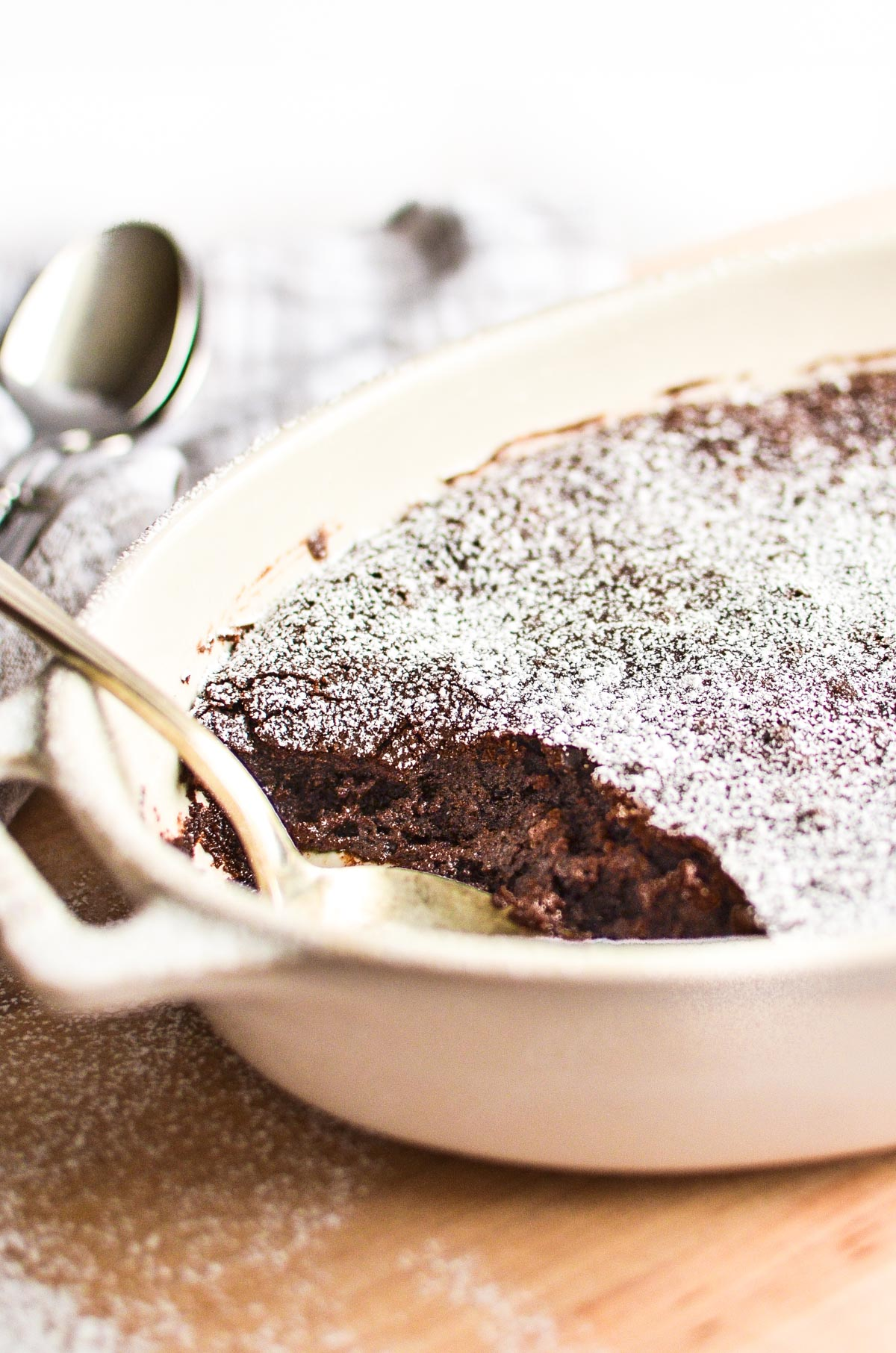 A dish of Brownie Pudding.