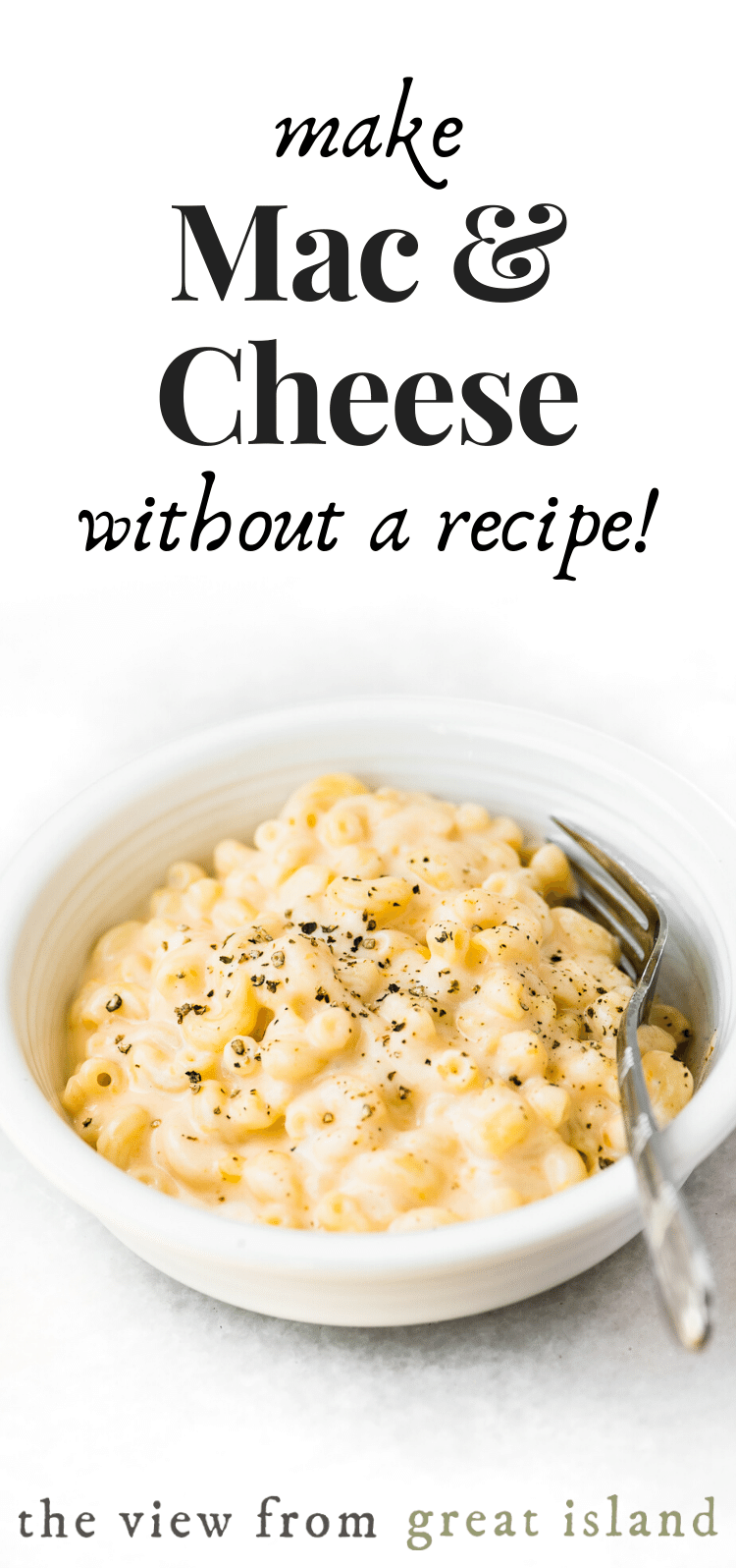 How to make mac and cheese without a recipe pin