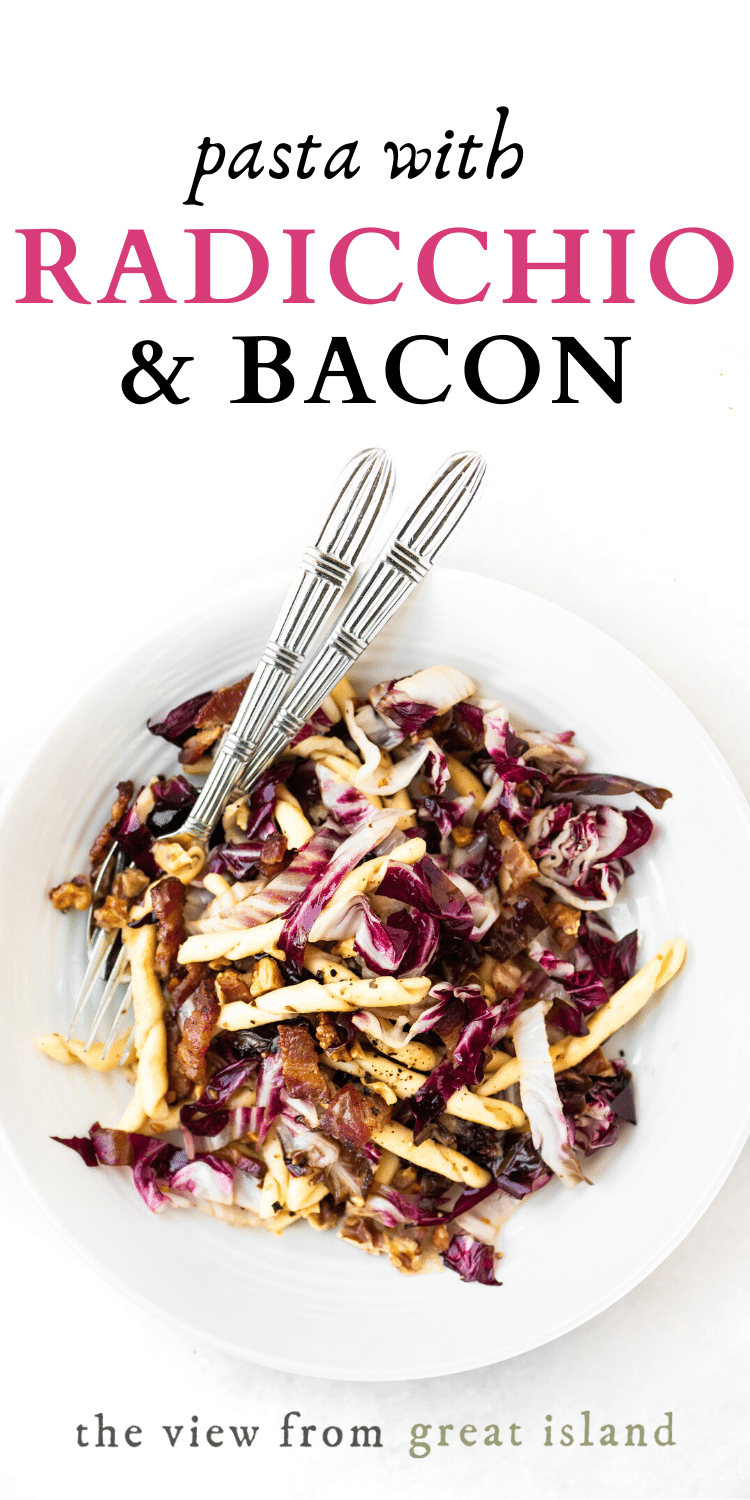 pasta with radicchio pin