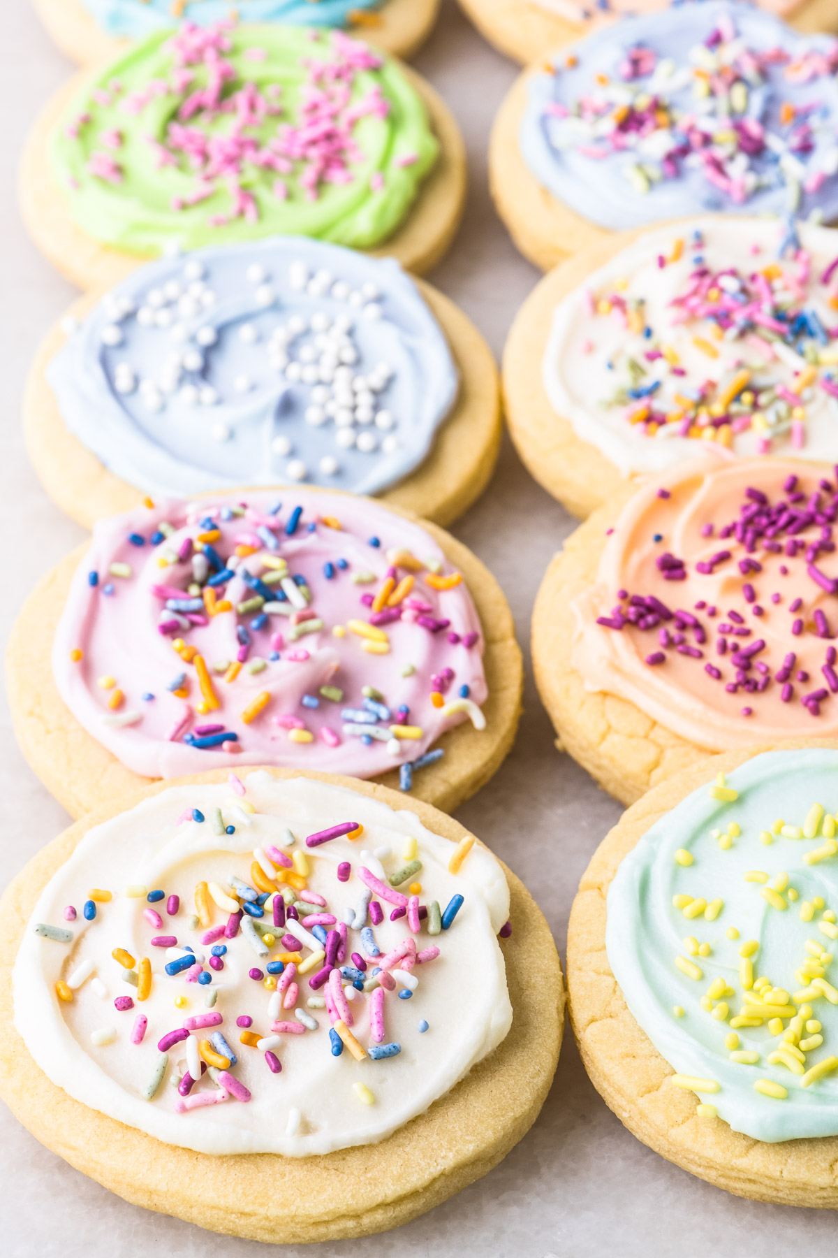 colorful iced sugar cookies