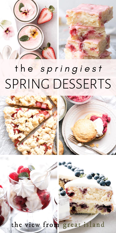 spring desserts pin