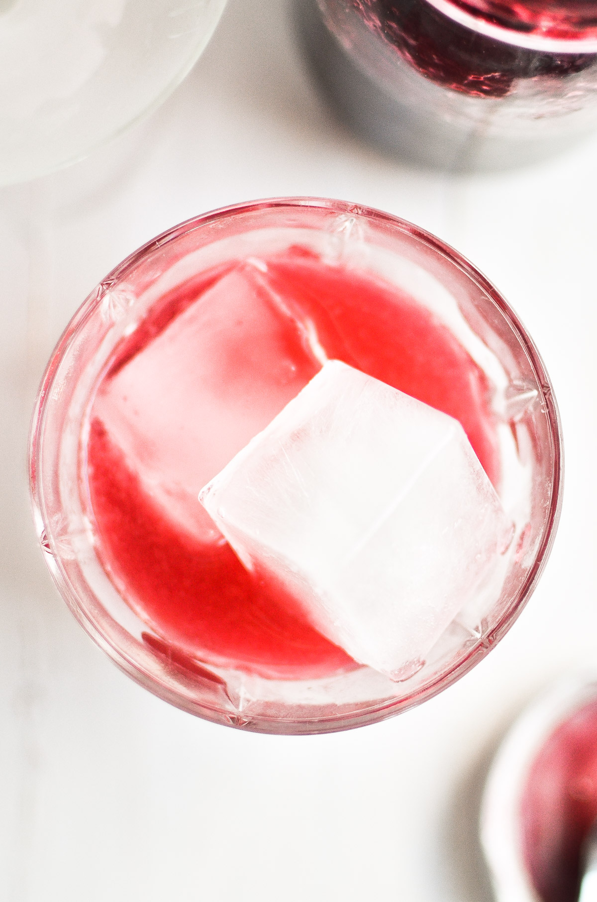 pretty gin cocktail over ice