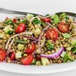 lentil and cucumber salad