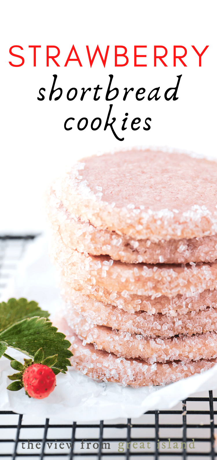 strawberry shortbread cookies pin