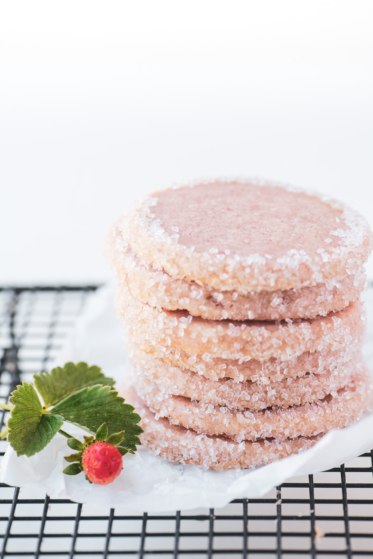 a stack of strawberry cookies