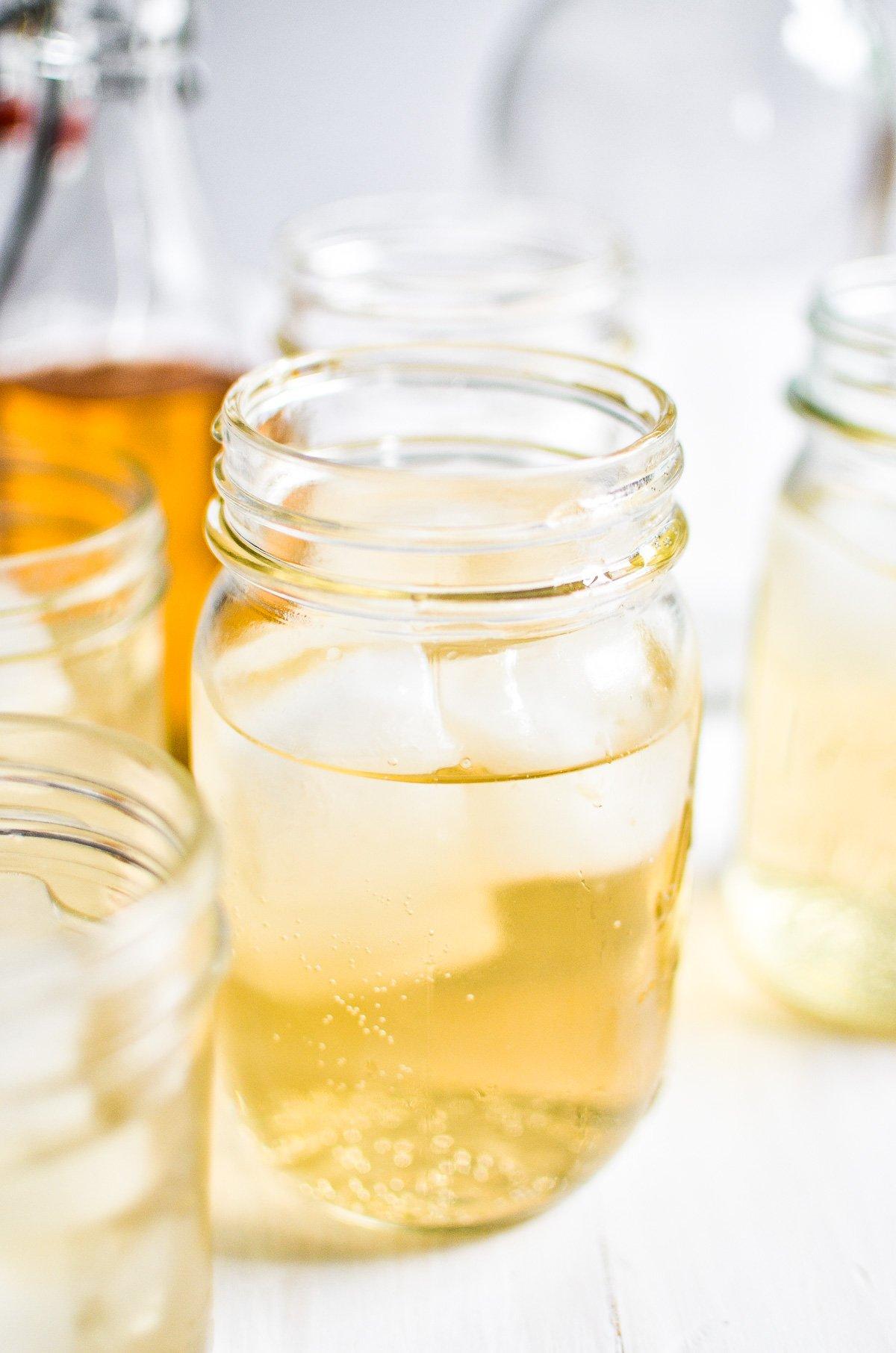 diy cream soda in a mason jar