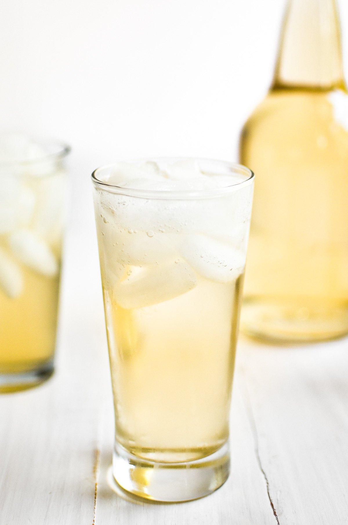 homemade cream soda in a glass