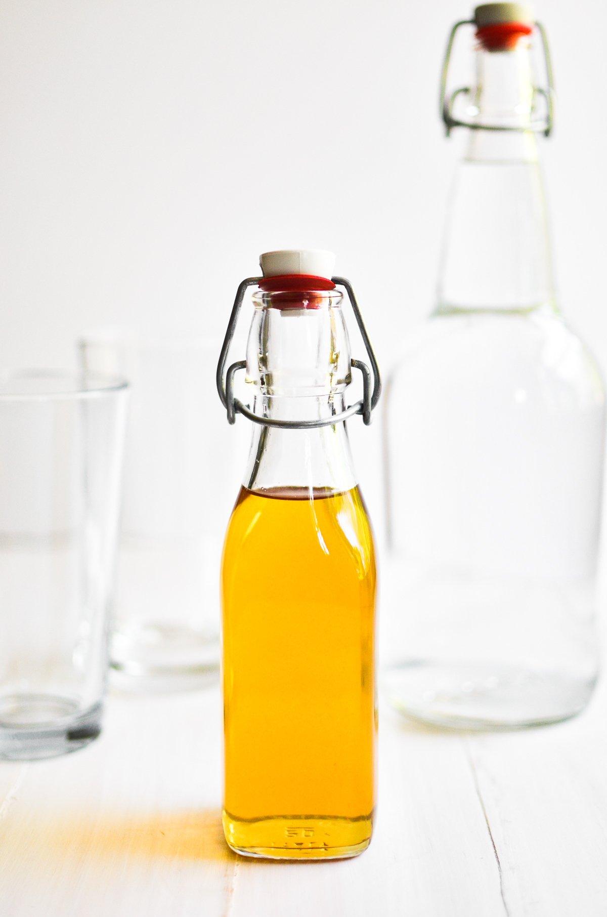 vanilla sugar syrup in a bottle