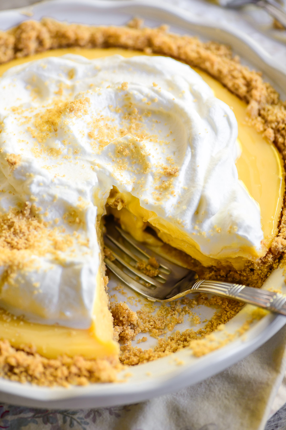 Lemon Icebox Pie with whipped cream