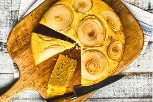 Sweet Vidalia Cornbread on a bread board