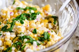 CORN AND BASIL SALAD