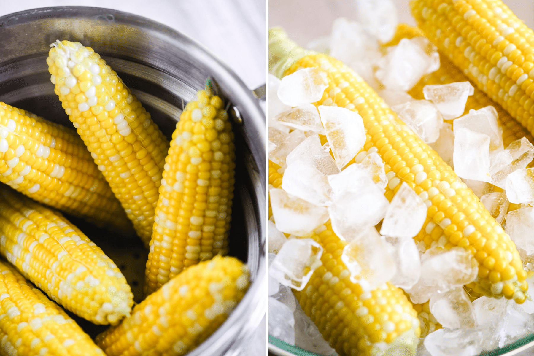 cooking corn for corn salad