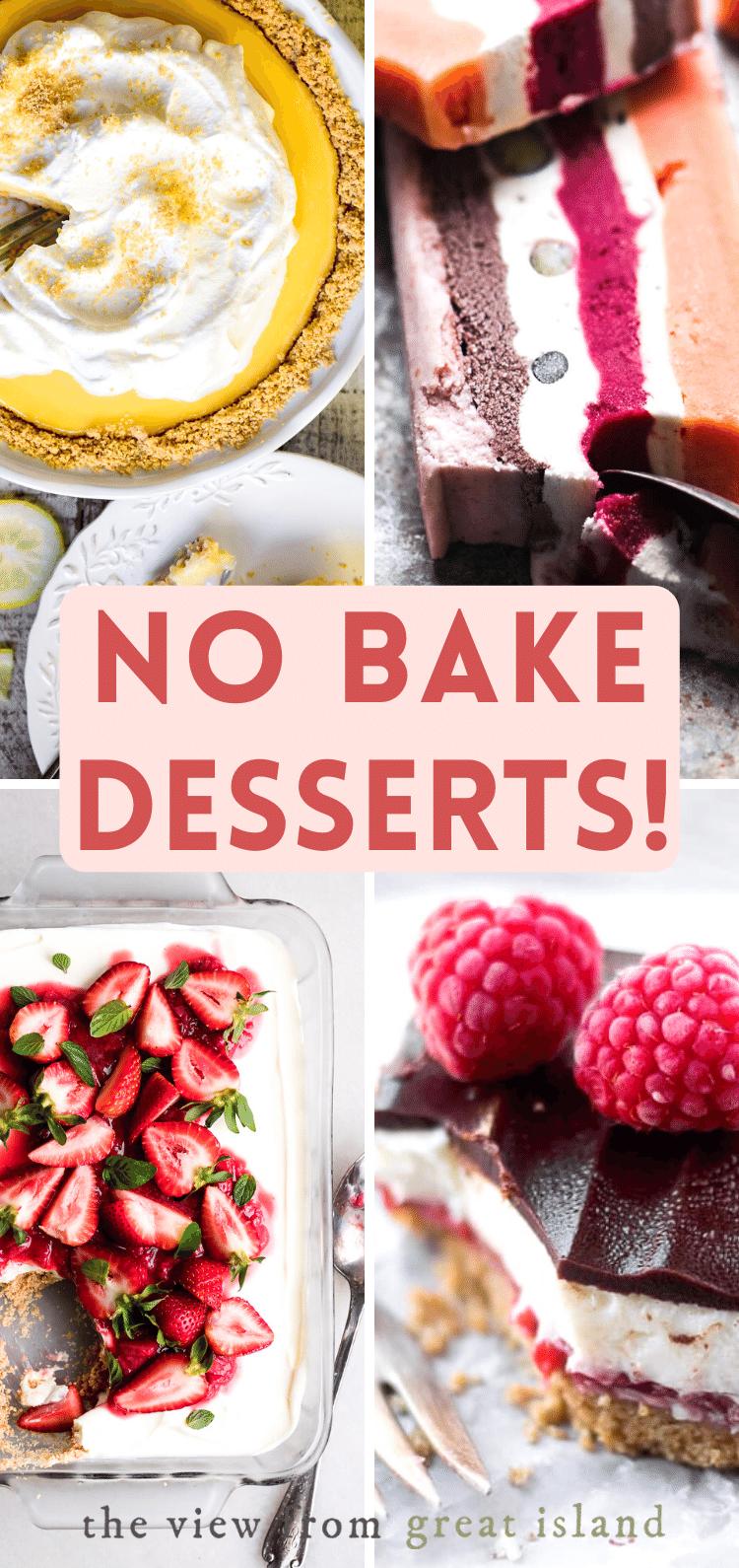 no bake desserts pin