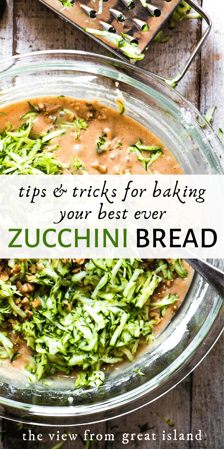 zucchini bread tips pin