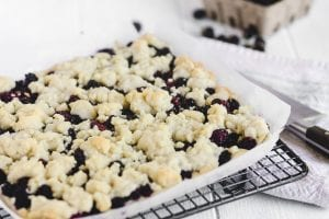 cooling blackberry bars