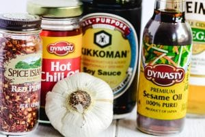 ingredients for Japanese dressing