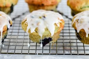 glazing muffins