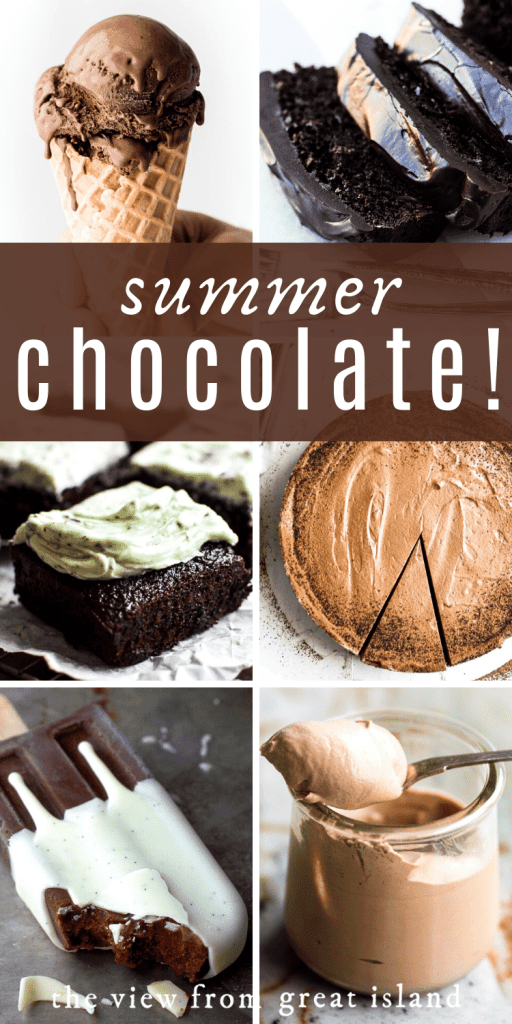 summer chocolate recipes pin