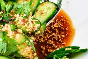 cucumber salad with dressing
