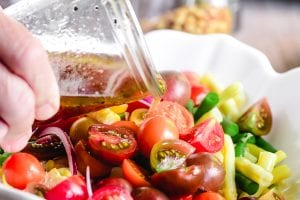 dressing tomato bean and corn salad