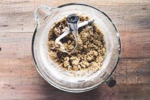making pecan sandies dough in stand mixer