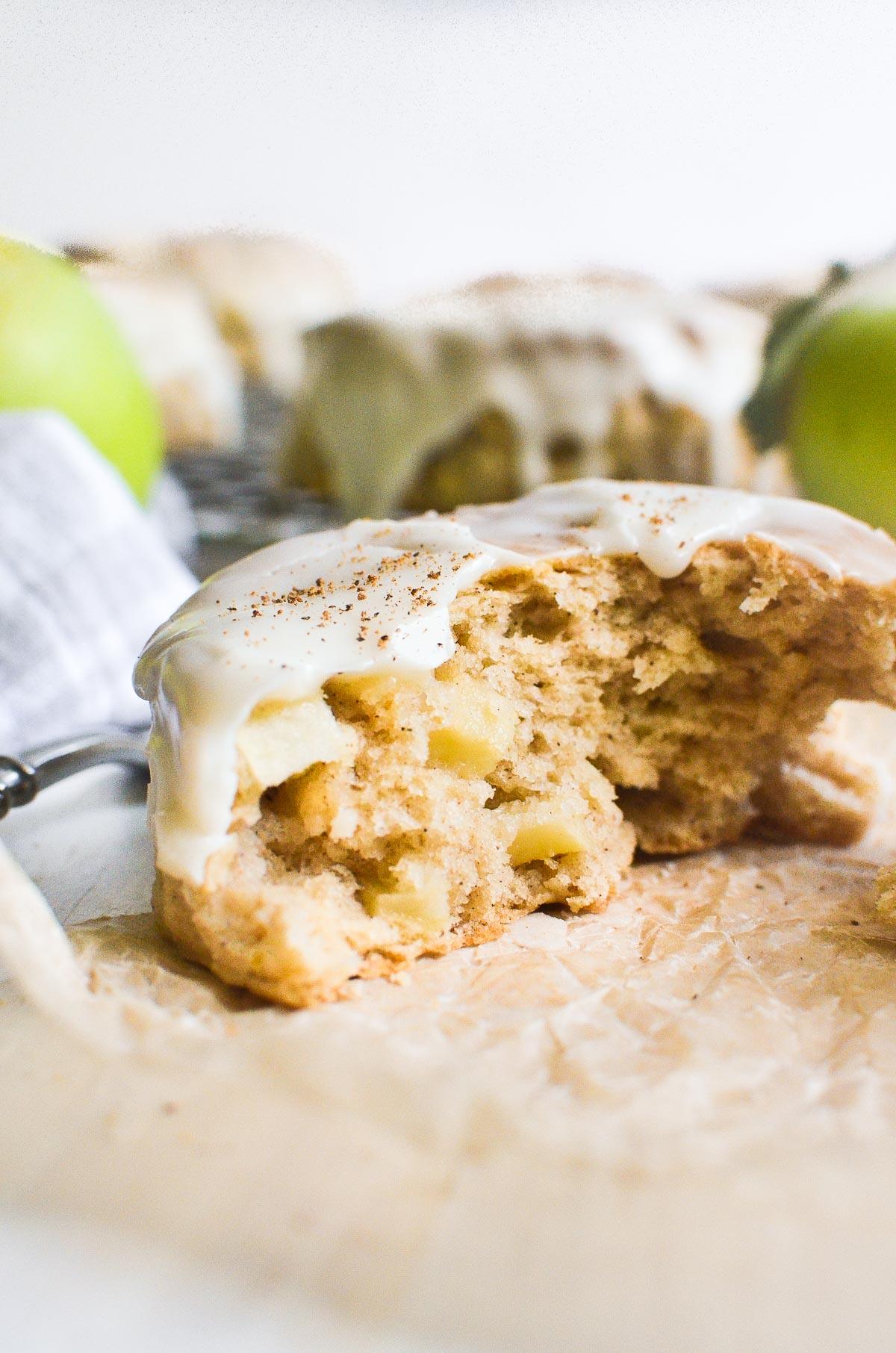 an apple pie scones, split open