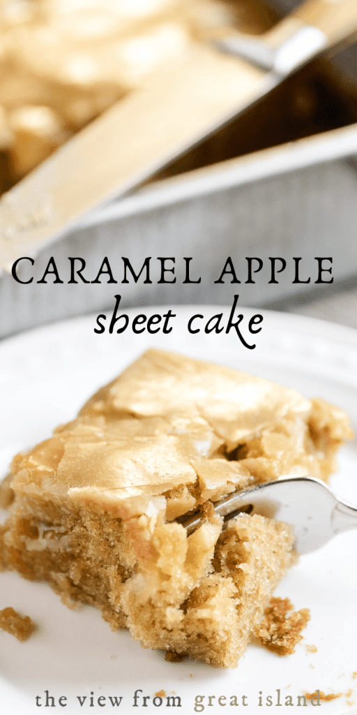 caramel apple cake pin image