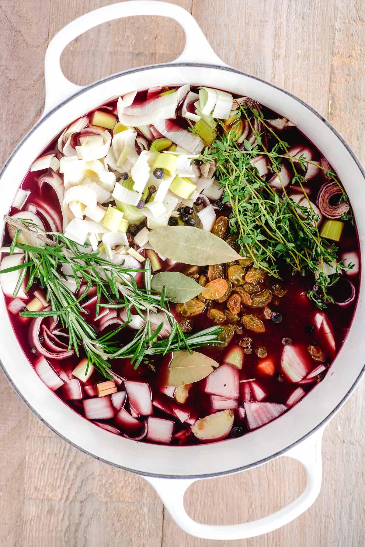 traditional marinade for German sauerbraten pot roast