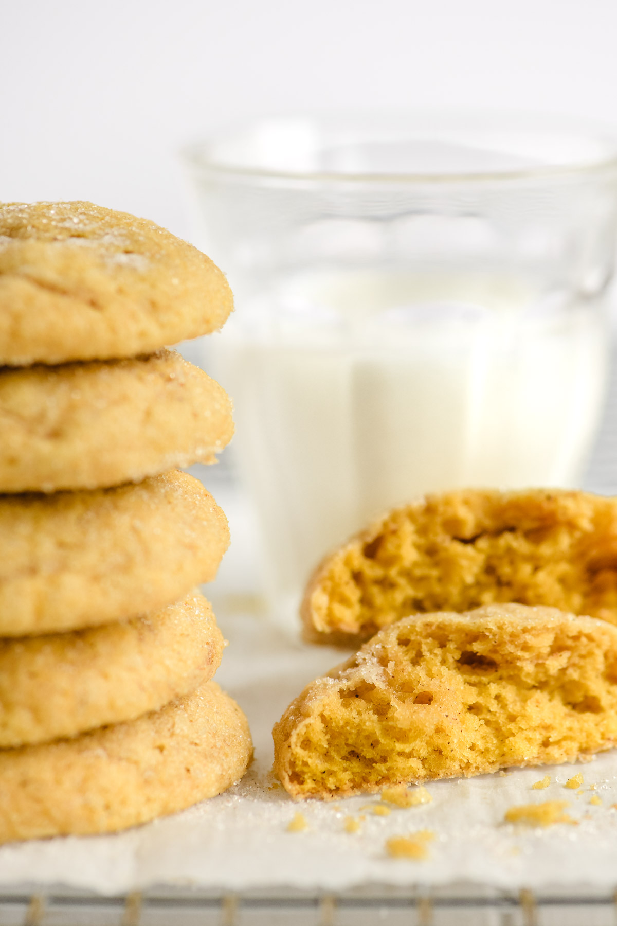 Soft batch pumpkin cookies, stacked