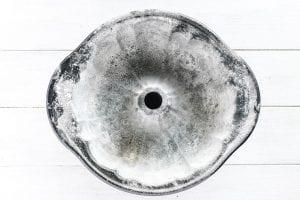 greased bundt pan