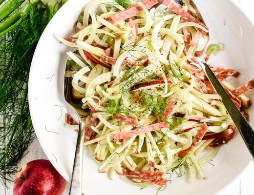 apple fennel and salami salad