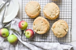 cooling apple scones on a rack