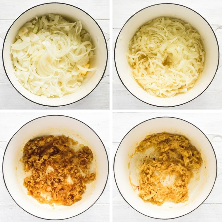 steps to caramelizing onions