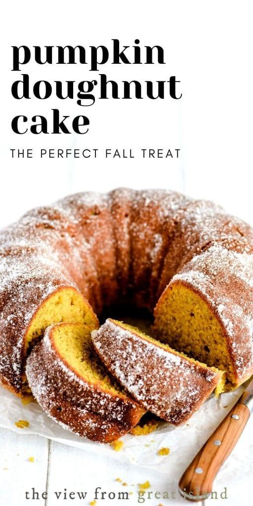 pumpkin doughnut cake pin