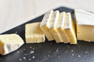 sliced Brie cheese