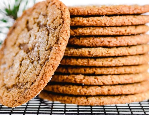 stacked chewy ginger molasses cookies