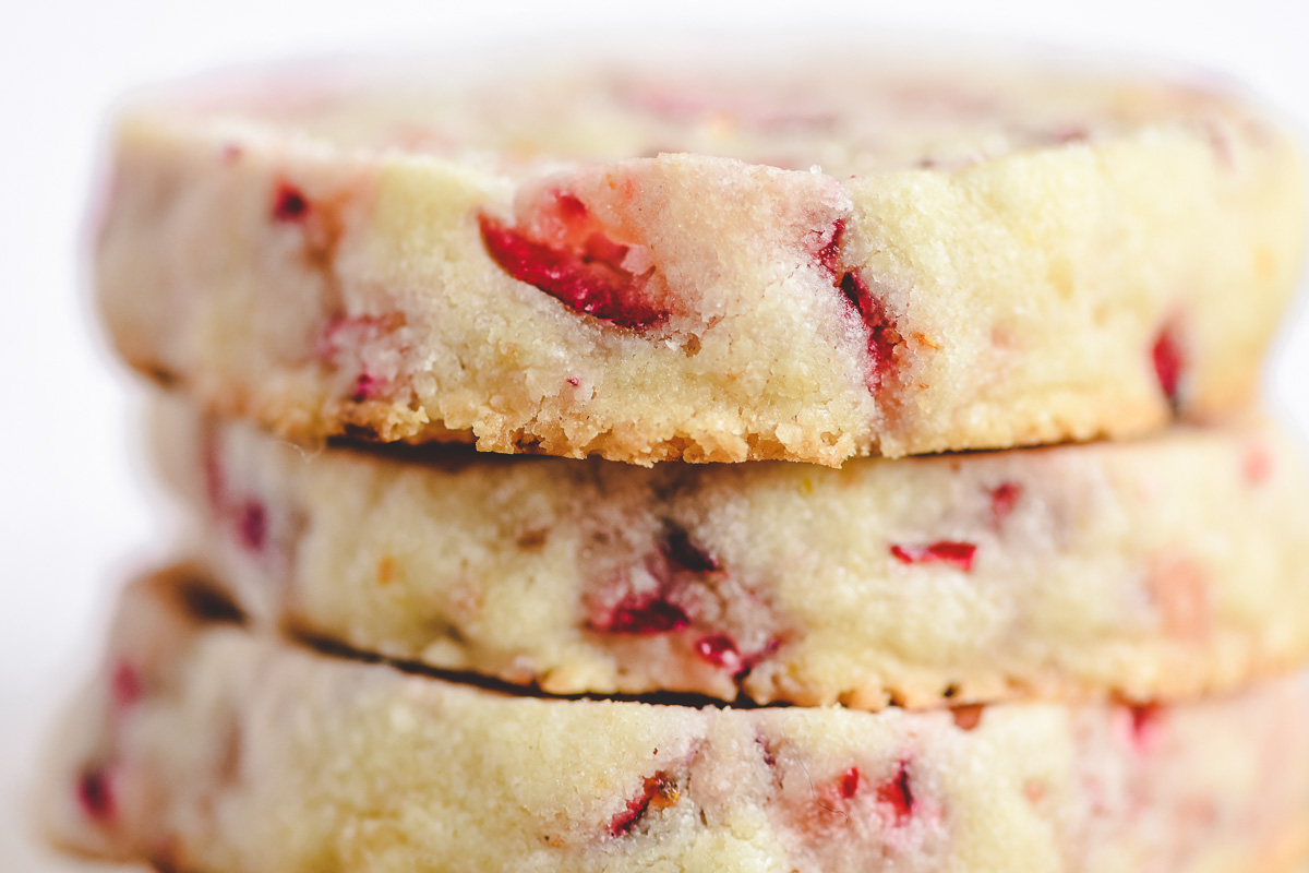 a stack of cranberry orange cookies