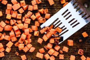 roasting sweet potato
