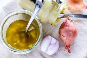 making maple cider vinaigrette