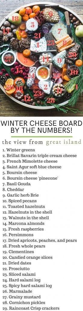 winter cheeseboard pin