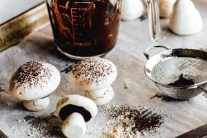 making meringue mushrooms
