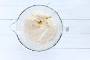 Cardamom bun dough rising