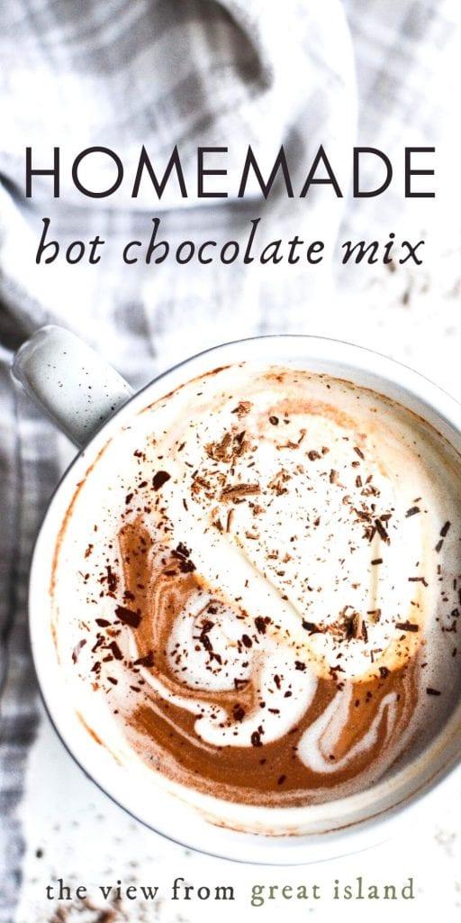 homemade hot chocolate pin