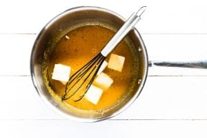 making lemon curd in a pan