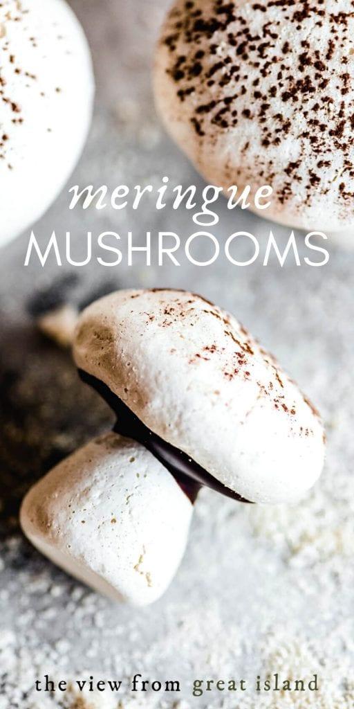 meringue mushroom pin