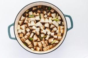 Cooking mapo tofu