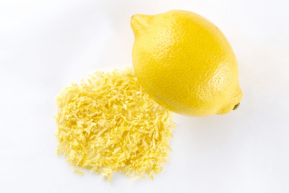 lemon with grated zest
